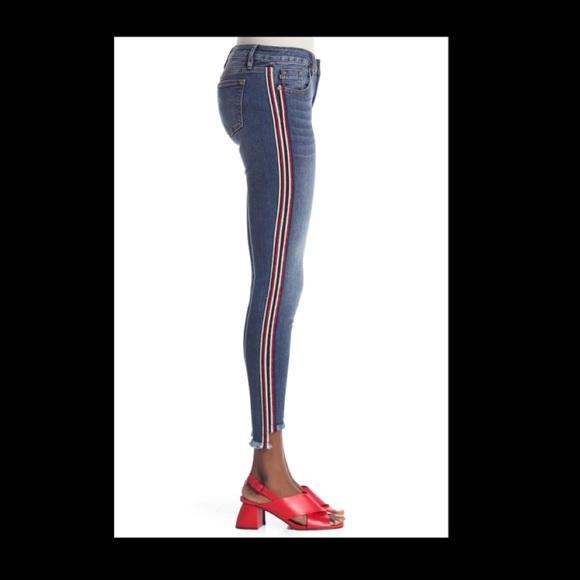 Vigoss Skinny Side Stripe Raw Hem 32